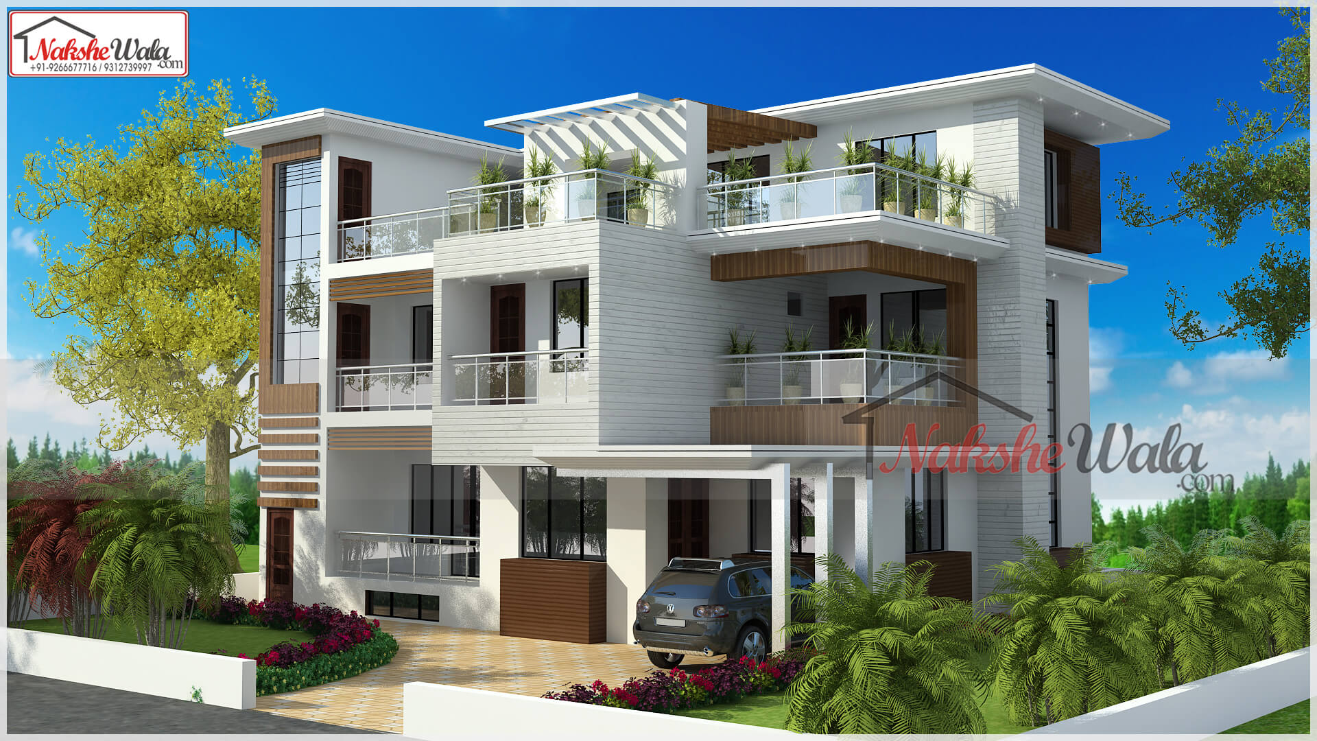 Nakshewala Front Elevation : House design floor plan map home front