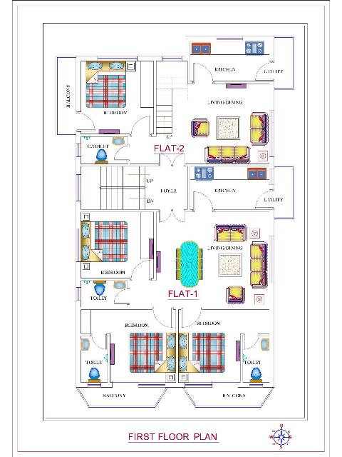 Modern Triplex House Design|40*60Triple Home Plan | 2400 ...