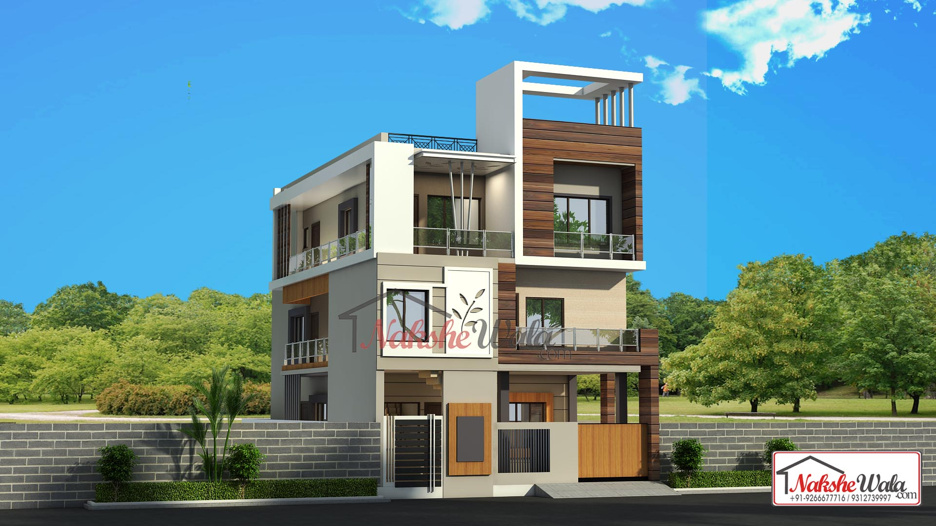 Affordable House Elevation| 30*55 Triple Storey Home ...