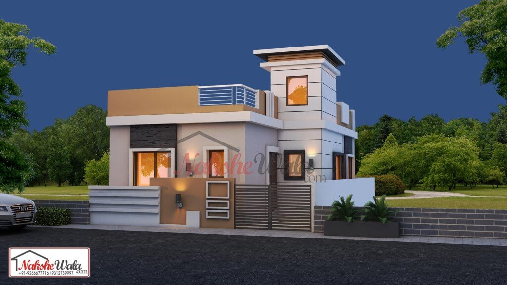Small House Elevation 25 40 Single Storey Home Elevation