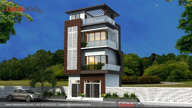 Affordable House Elevation| 25*30 Triple Storey Home ...