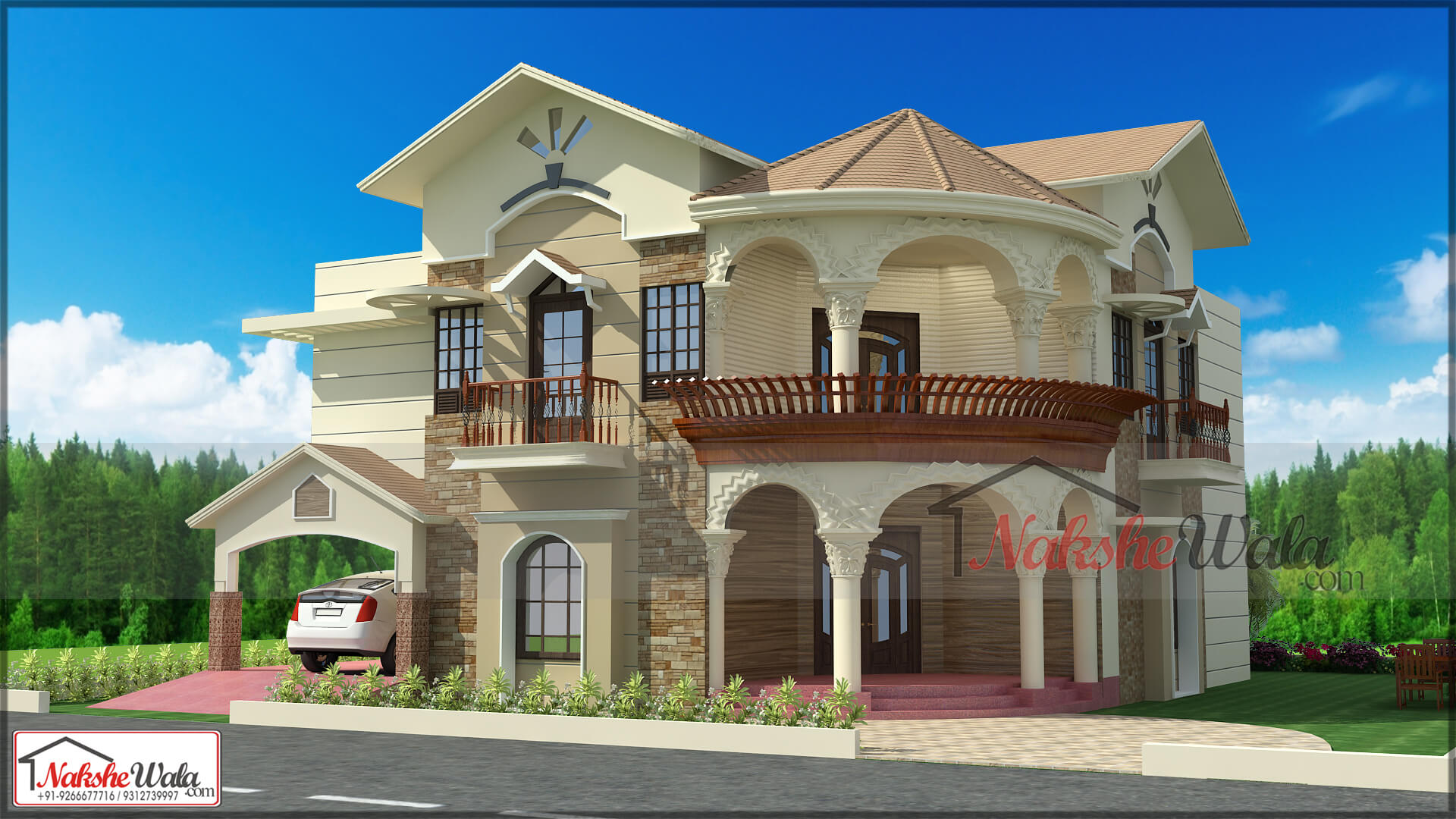 Front Elevation Designs For Houses In Rajasthan : House design floor plan map home front